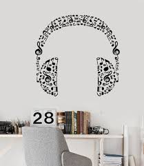 vinyl wall decal headphones music musical room art stickers 426ig vinyl wall decal headphones music musical room art stickers 426ig