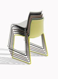 Arper Logo by Contemporary Chair Upholstered Stackable Sled Base Catifa