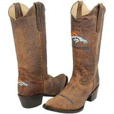 womens boots denver denver broncos womens embroidered cowboy boots brown polyvore