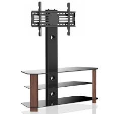 tv mount with shelves fitueyes universal glass lcd tv stand with swivel mount bracket 2