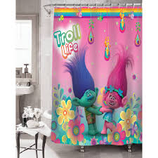 Washable Curtains Trolls Hugfest Shower Curtain Fabric Curtain 100 Polyester