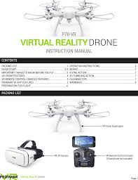 p70vrd vr drone user manual vr im import marketing solutions inc