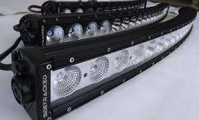 Single Row Led Light Bar by Tracker Series Radius Led Light Bars Sidetracked Offroad
