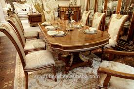 Traditional Dining Room Furniture Sets 0062 Italian Royal Classic Dining Room Sets Wooden Table Furniture