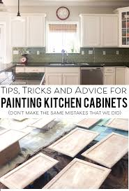 How To Clean Kitchen Cabinets Before Painting by Tips For Painting Kitchen Cabinets Kitchens And House
