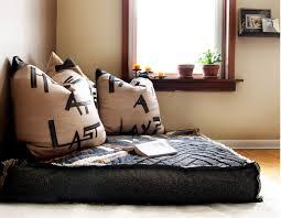 floor sofa furniture small square black cozy floor and square brown