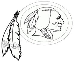 request need a large black u0026 white outline of the redskins logo