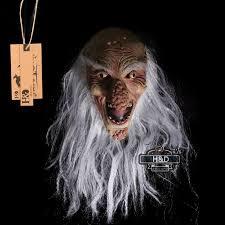 scary latex bald old man big nose halloween mask fancy dress