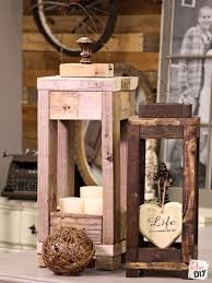 At Home Decor Easy Outdoor Decor How To Make Lanterns From Scrap Wood Diva Of