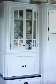 Display Dishes In China Cabinet White Dishes In The Little Cupboard Stonegable