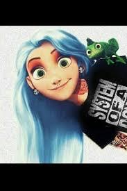 tangled rapunzel blue goth princesses pinterest disney