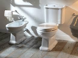 delightful bathroom corner decoration using white porcelain toilet