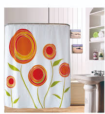 Kitchen Curtains With Fruit Design by 180 180cm Simple Design Style Toilet Valance Printed Orange Flower