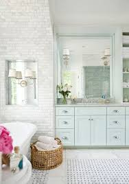 Bright Blue Bathroom Accessories by Powder Bathroom Makeover Reveal By A Blissful Nest