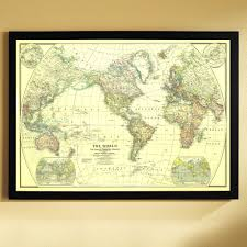 Framed Map Of The World by 1909 Africa Map National Geographic Store