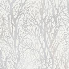 white and silver trees wallpaper by as creation 34819 2