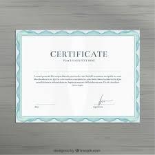 certificate template vector free download