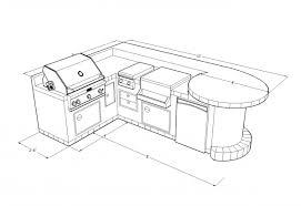 kitchen islands plans matchless outdoor bbq kitchens islands plans with l shape design