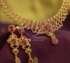 emerald gold necklace jewelry images Nl1350 transparent pink emerald fancy gold design necklace premium JPG
