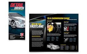 auto detailing tri fold brochure template word u0026 publisher