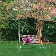 icon mystique stripe deluxe cushioned double porch swing dfohome