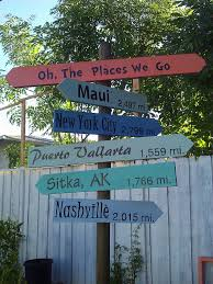 Cute Backyard Ideas by Cute And Simple Idea For Backyard Destination Signs Start With
