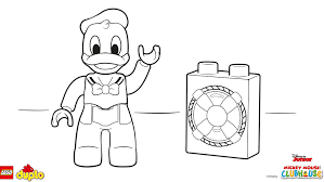 lego duplo donald duck coloring coloring lego