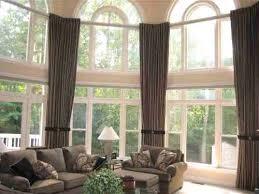 Big Window Curtains Cool Large Window Curtain Ideas Decorating With Big Window