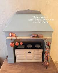 miniature aga stove surround dollhouse stove