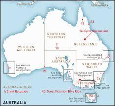 Australian Outback Map Australia U0027s Top 50 Bike Riding Experiences Rideon