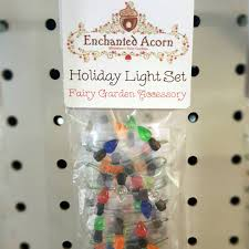 miniature christmas light bulb strand winter fairy garden lights