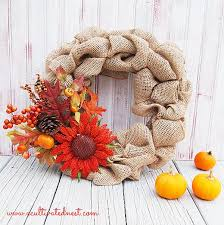 Homemade Fall Decor - my diy fall burlap wreath