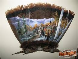 turkey feather painting once in a lifetime
