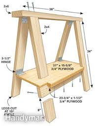 How To Draw A Picnic Table Sawhorse Plans Family Handyman