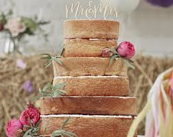 Wedding Cake Ideas Rustic Mr And Mrs Cake Topper Etsy
