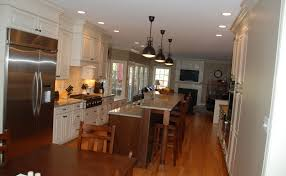 Galley Kitchens With Islands Kitchen Galley Kitchen With Island Fearsome Image Concept Small