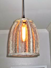 chicken wire farmhouse small pendant light u2013 out of the woodwork