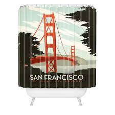 Graphic Shower Curtains by Anderson Design Group San Francisco Shower Curtain Deny Designs