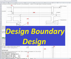 design of boundary wall spreadsheet civil engineering program