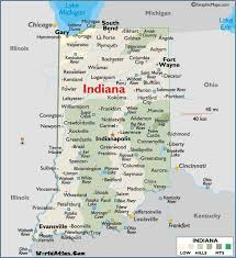 indiana map us map of indiana large color map