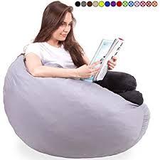 amazon com 4ft bean bag chair in espresso big velour comfort