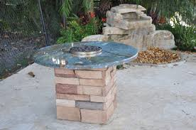 custom outdoor fire pits firemagic built in bbq and gas fire pit custom built with blue