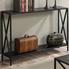 Wrought Iron Console Table Black Wrought Iron Console Sofa Tables You Ll Wayfair