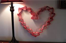 valentines day paper heart wreath decoration youtube