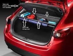 mazda 3 hatchback 2014 2018 mazda 3 5 door hatchback cargo storage shelf bje3v1300