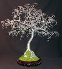 hammered leaves bonsai wire tree sculpture by sal villano sal