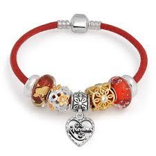 sterling silver heart bead bracelet images Sterling silver grandma heart bead bracelet fits european style jpg