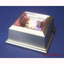 led light base for crystal light display for 3d crystal engraving light base 4 led square