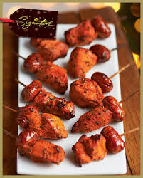 m canapes chicken and chorizo skewers tapas canapes wedding