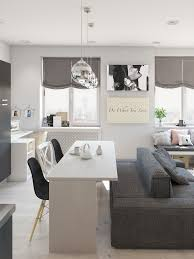 white and gray studio apartment with best plan setting home